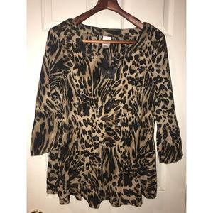 Leopard Print Tunic Top - Size 3x - Fabulous!